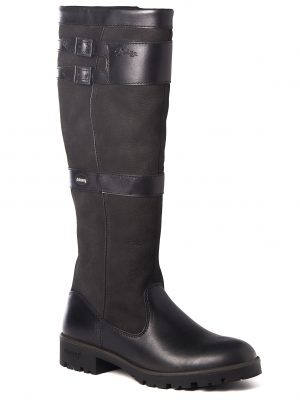 Dubarry Longford Boots - Ladies Waterproof Gore-Tex Leather - Black