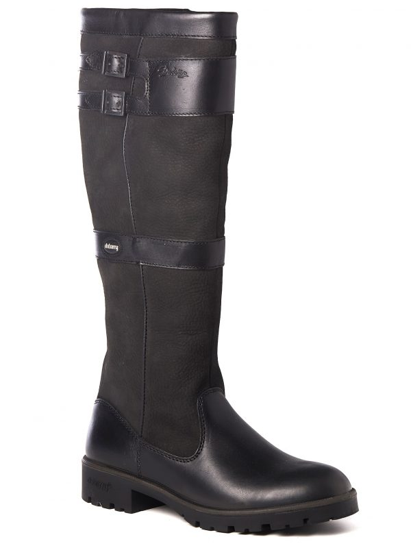 Dubarry Longford Boots - Ladies Waterproof Gore-Tex Leather - Black