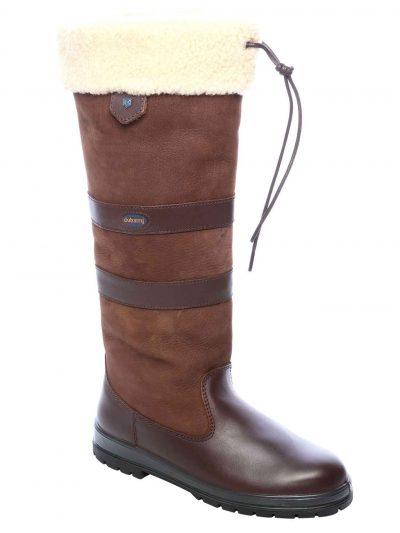 Dubarry Kilternan Fleece Lined Boots - Waterproof Gore-Tex Leather - Walnut