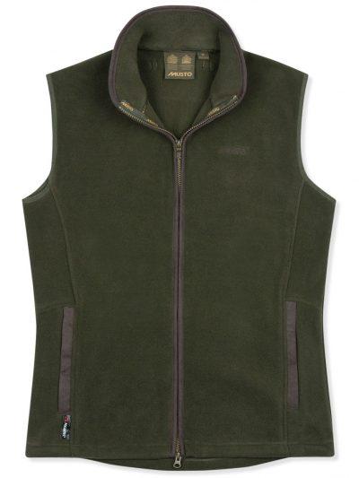 MUSTO Gilet - Mens Glemsford Polartec® Fleece - Dark Moss