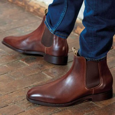barker-mansfield-Barker Mansfield - Chelsea Boots - Walnut Calf-boots-walnut-calf