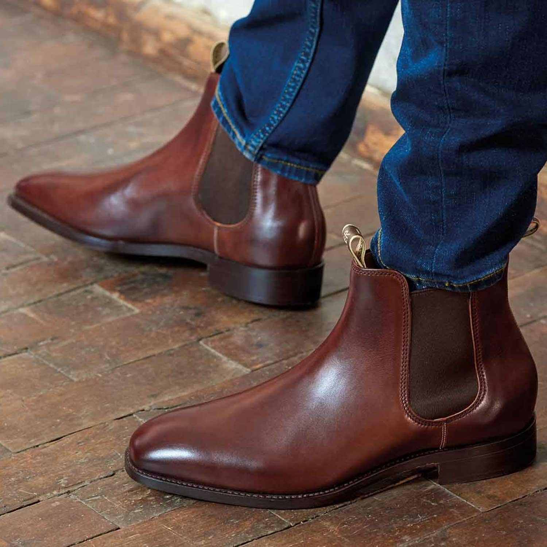 d77ad089cda BARKER Mansfield Boots – Mens Chelsea – Walnut Calf