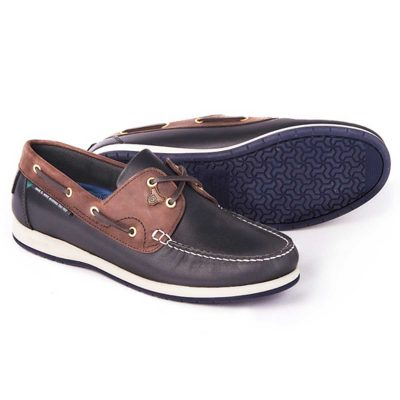 DUBARRY Deck Shoes - Men's Sailmaker X LT - Navy & Brown