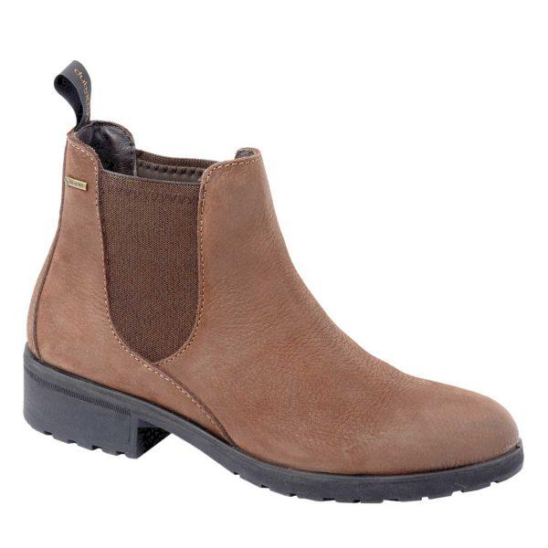 DUBARRY Waterford Chelsea Boots - Ladies Gore-Tex Waterproof Leather - Walnut