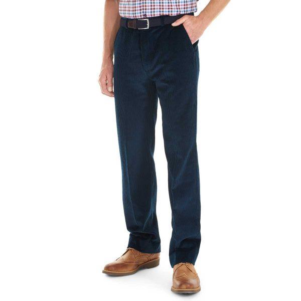 Gurteen - Verona Stretch Cord Trousers - Navy