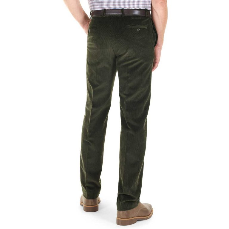 Gurteen - Verona Stretch Cord Trousers - Olive