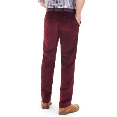 Gurteen - Verona Stretch Cord Trousers - Wine