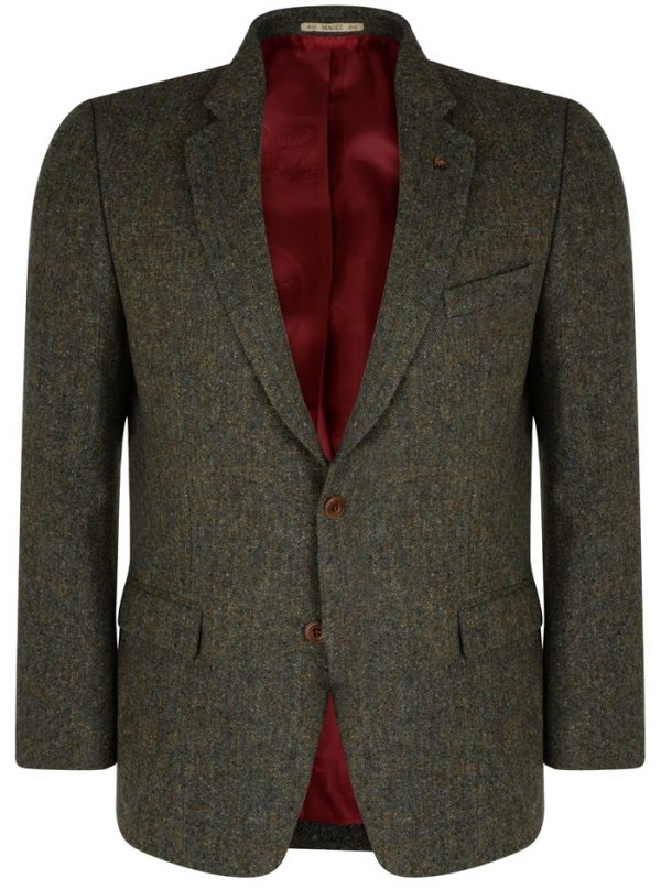 Magee Blazer - Men's Green Handwoven Donegal Tweed - Classic Fit
