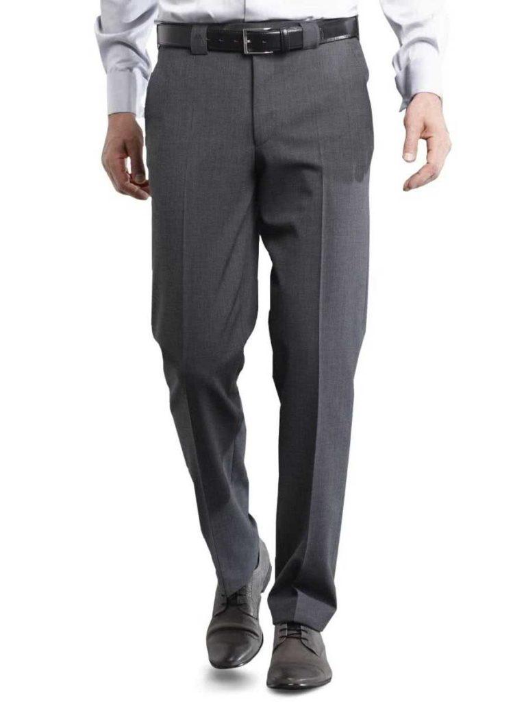 Meyer - Roma 288 Fine Gabardine Wool Mix Trousers - Grey