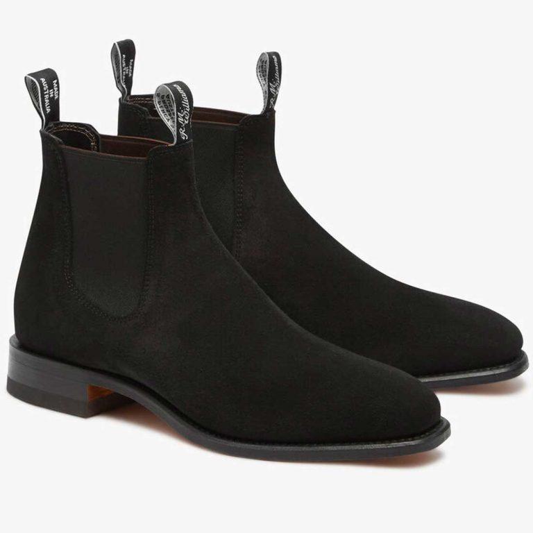 RM WILLIAMS Boots - Men's Comfort Craftsman - Black Suede