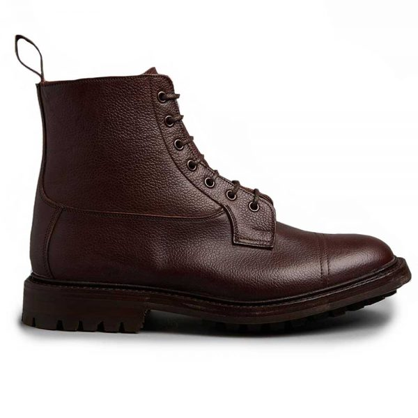 Tricker's Grassmere Country Boots - Commando Sole Brown Zug Grain