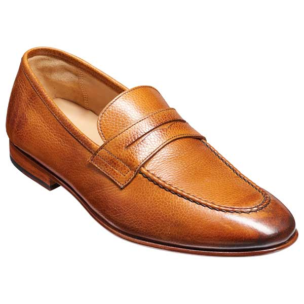 BARKER Ledley Shoes – Mens Moccasins – Cedar Grain