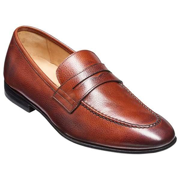 BARKER Ledley Shoes – Mens Moccasins – Cherry Grain