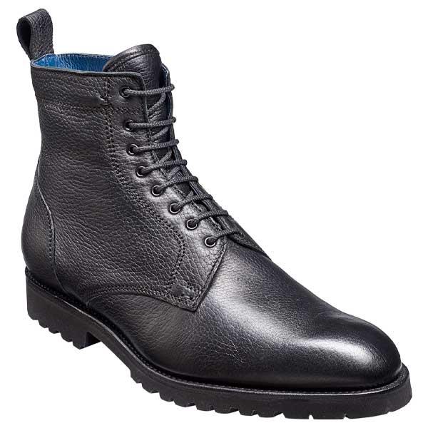 BARKER Sully Boots - Mens Fur Lined - Black Deerskin