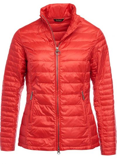 Barbour - Ladies Iona Baffle Quilted jacket Tartan Red