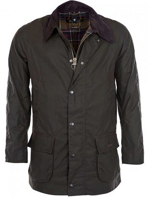 BARBOUR Wax Jacket - Mens Bristol Tailored Fit - Olive