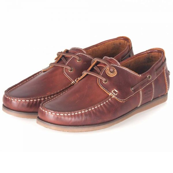 Barbour - Men's Capstan Boat Shoes - Mahogany