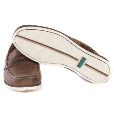 Barbour - Men's Keel Deck Shoes - Beige & Brown
