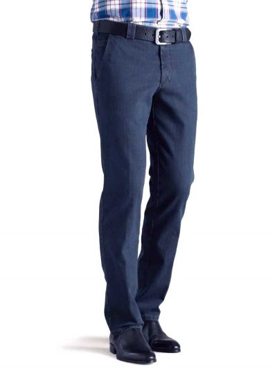 Meyer Denim Trousers - T400 Stretch Core Spun - Roma 629 - Blue