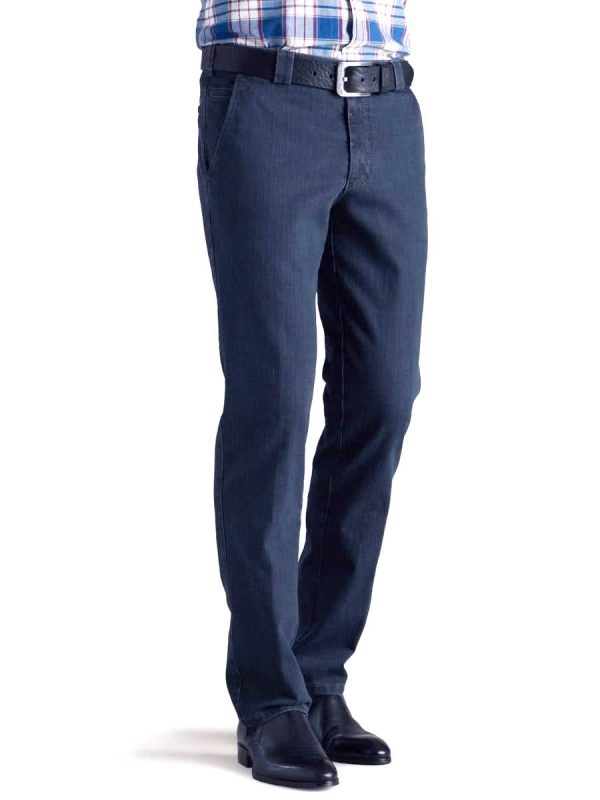 Meyer Denim Trousers - T400 Stretch Core Spun - Roma 629 - Blue