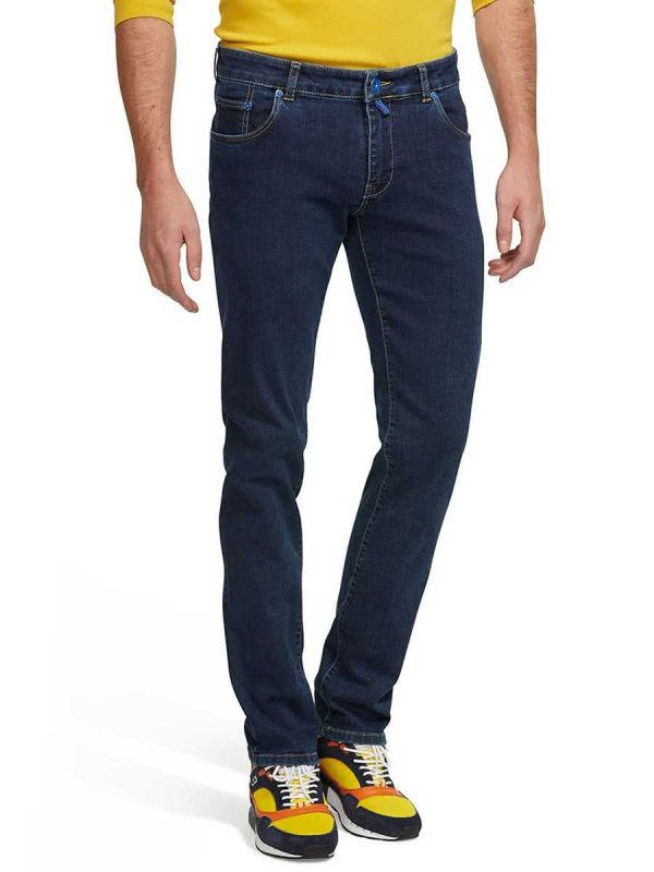 Meyer M5 Jeans - 6202 Stretch Denim - Skinny Fit - Blue