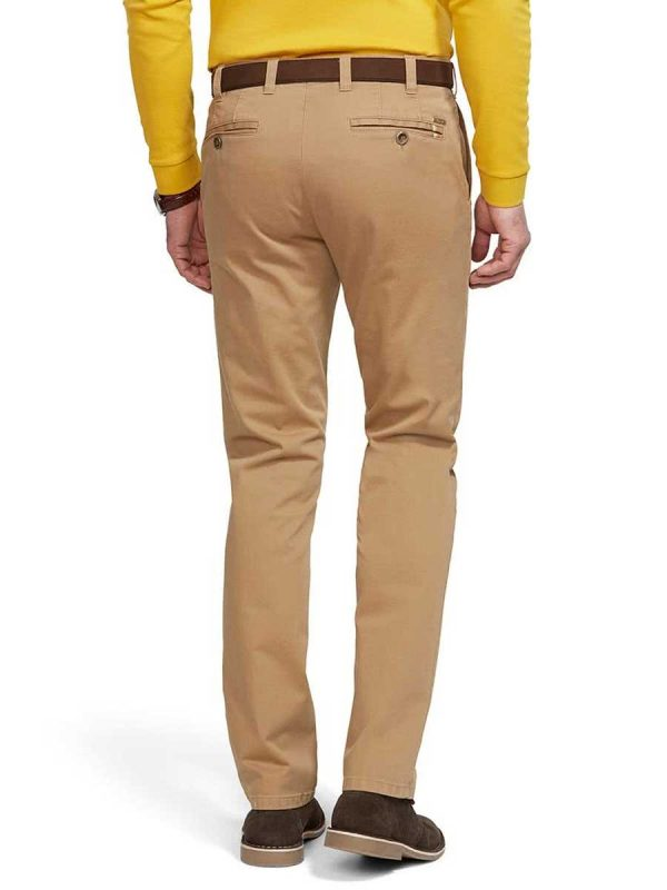 Meyer - Oslo 316 Soft Cotton Chinos - Expandable Waist - Camel