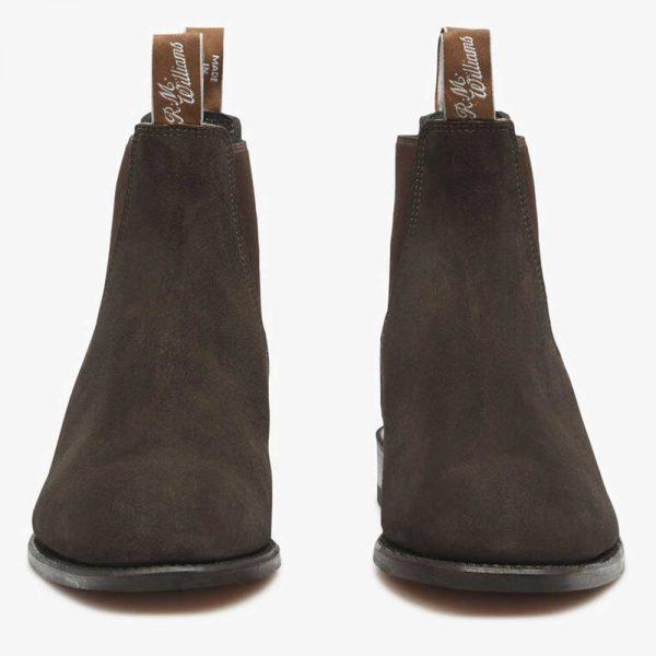 RM WILLIAMS Boots - Men's Comfort Craftsman - Chocolate Suede