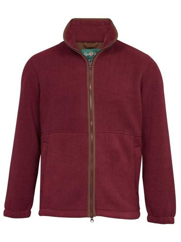 ALAN PAINE - Mens Aylsham Fleece Jacket - Bordeaux