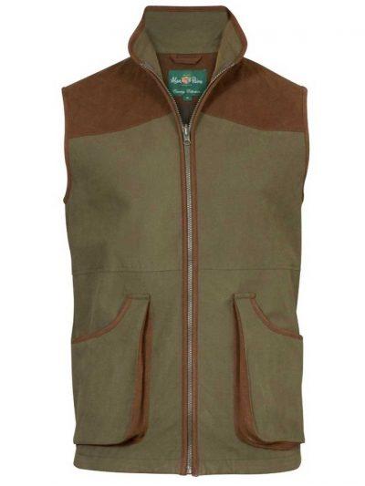 ALAN PAINE Waterproof Waistcoat - Mens Berwick - Olive