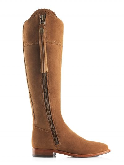 FAIRFAX & FAVOR Boots - Ladies Flat Regina - Sporting Fit - Tan Suede