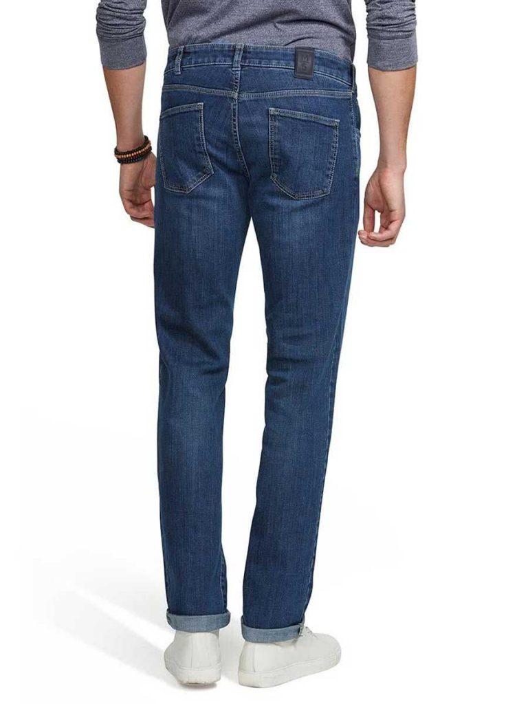 Meyer M5 Jeans - 6209 Stretch Denim - Regular Fit - Stone Blue