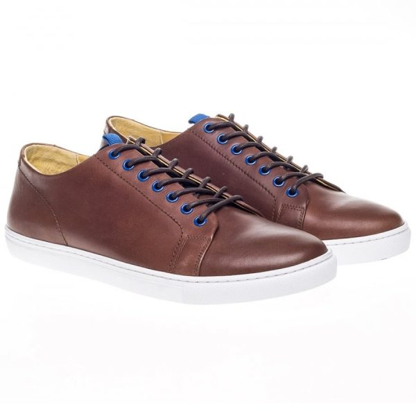 Steptronic Shoes - Zoom - Brown Leather Trainer