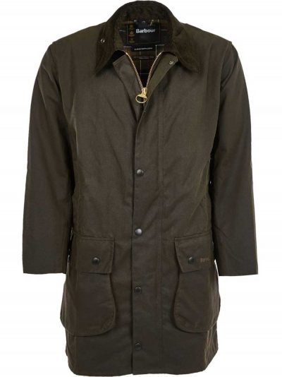 BARBOUR Wax Jacket - Mens Northumbria Classic 8oz Sylkoil - Olive