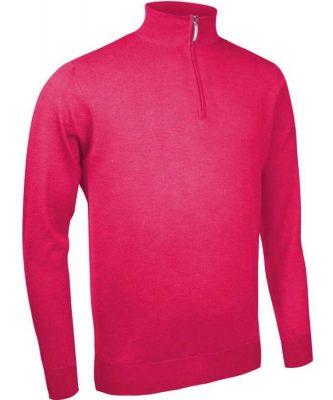 Glenmuir Men's Jasper Zip Neck Fine Merino Sweater - Daiquiri