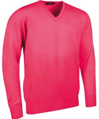 Glenmuir Men's Wilkie V Neck Fine Merino Sweater - Daiquiri