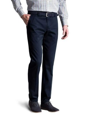 Meyer - Roma 3001 Lightweight Soft Cotton Chinos - Navy