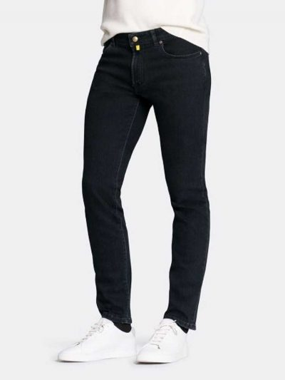 MMX Jeans - Men's Phoenix 7142 Super Stretch Denim - Black-Black