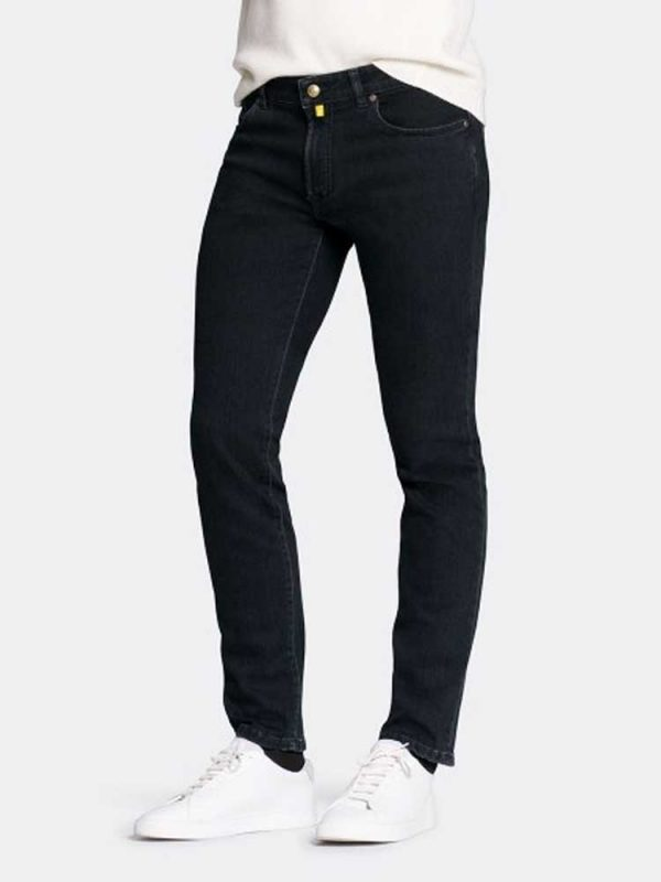 MMX Jeans - Men's Phoenix 7142 Super Stretch Denim - Black-Black