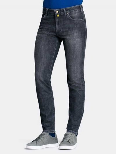 MMX Jeans - Men's Phoenix 7142 Super Stretch Denim - Mid-Grey