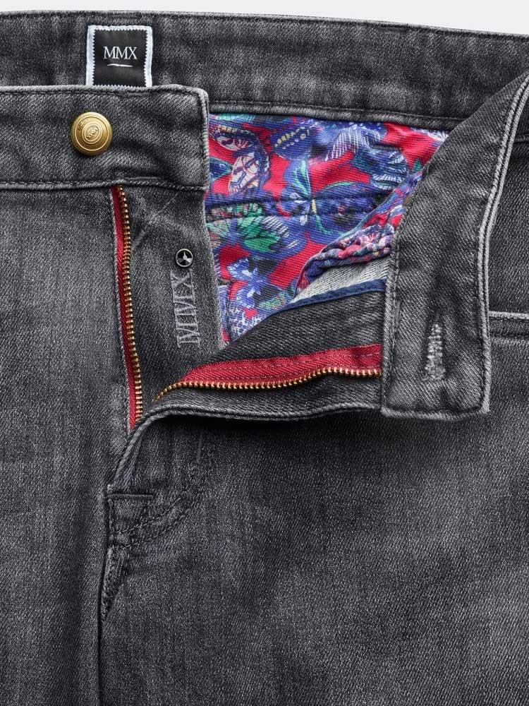 MMX Jeans - Men's Phoenix 7142 Super Stretch Denim - Mid-Grey