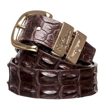"RM WILLIAMS Belt - Men's Saltwater Crocodile 1.5"" - Chestnut"