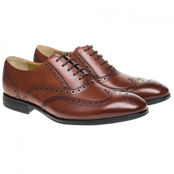 Steptronic Shoes - Finchley - Tan Leather