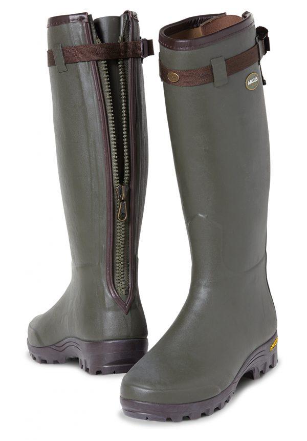 Arxus Primo Leather Zip Wellington Boots