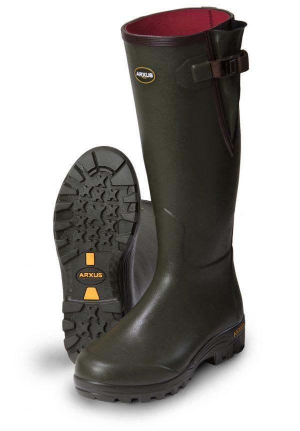 Arxus - Pioneer Nord Neoprene Wellington Boots - Dark Olive