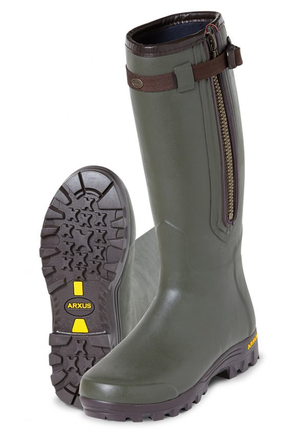 Arxus - Primo Nord Air Wellington Boots - Dark Olive