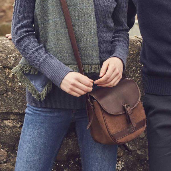 Dubarry Clara Leather Handbag - Walnut