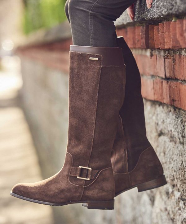 Dubarry Limerick Suede Knee-High Boots - Cigar Suede