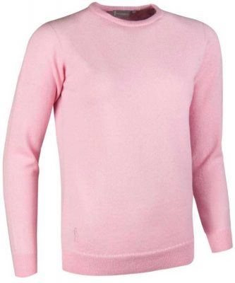 Glenmuir Ladies Esther Crew Neck Lambswool Sweater Candy