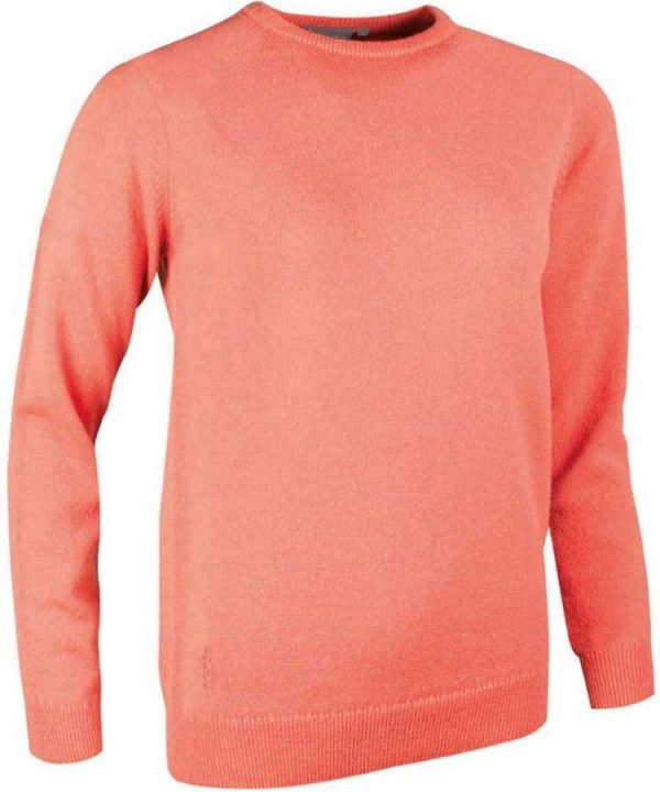 Glenmuir Ladies Esther Crew Neck Lambswool Sweater - Coral
