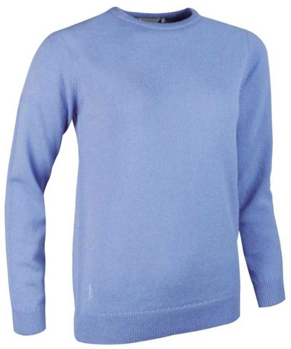 Glenmuir Ladies Esther Crew Neck Lambswool Sweater - Light Blue